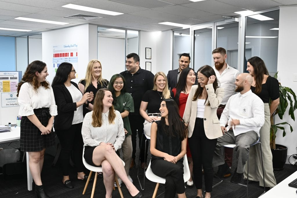 Attention Experts Team Photo of their Sydney social media agency